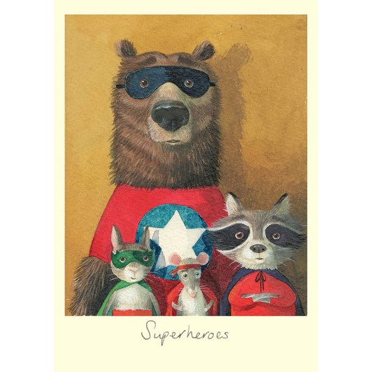 Superheroes Card