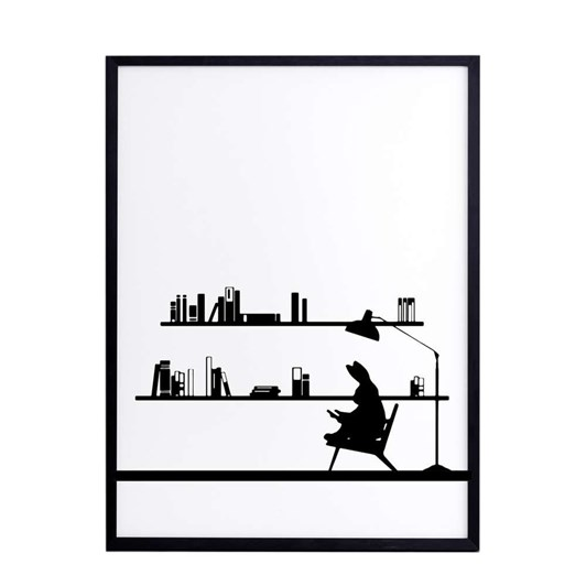 Ham Reading Rabbit Screen Print