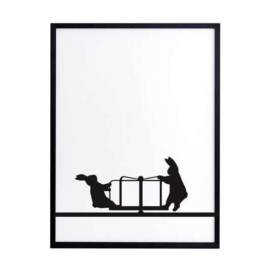 Ham Roundabout Rabbit Screen Print