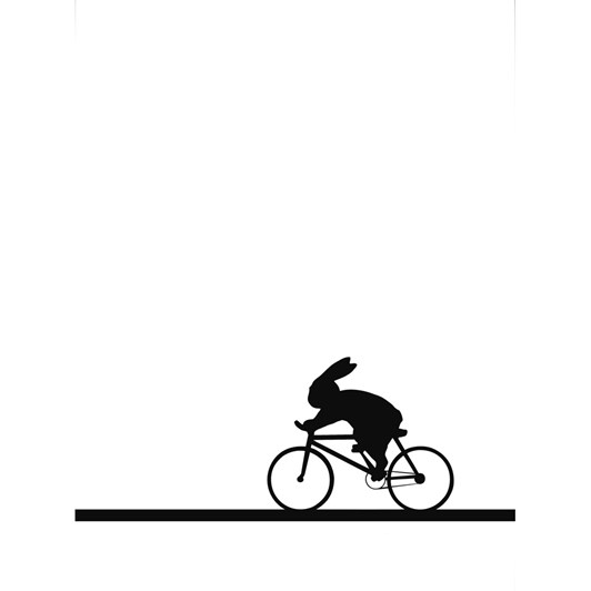 Ham Racing Bike Rabbit Screen Print