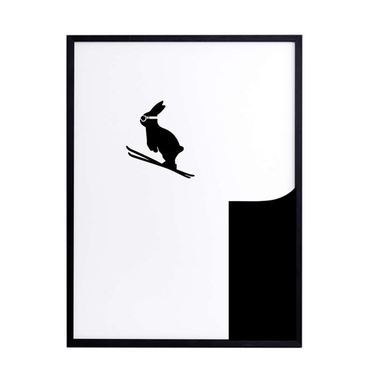 Ham Ski Jumping Rabbit Screen Print