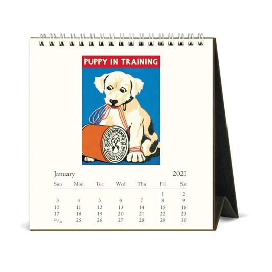 Cavallini Vintage Dogs 2021 Desk Calendar