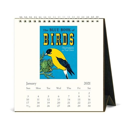 Cavallini Vintage Birds 2021 Desk Calendar