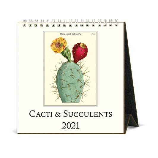 Cavallini Cacti & Succulents 2021 Desk Calendar