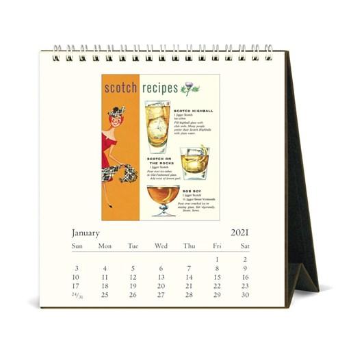 Cavallini Vintage Cocktails 2021 Desk Calendar
