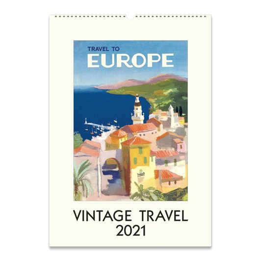 Cavallini Vintage Travel Wall Calendar