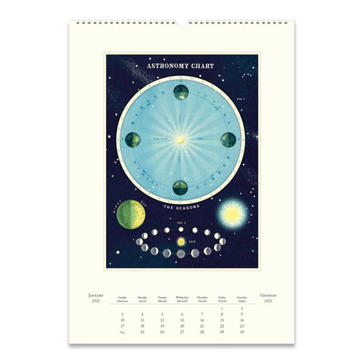 Cavallini Celestial Wall Calendar