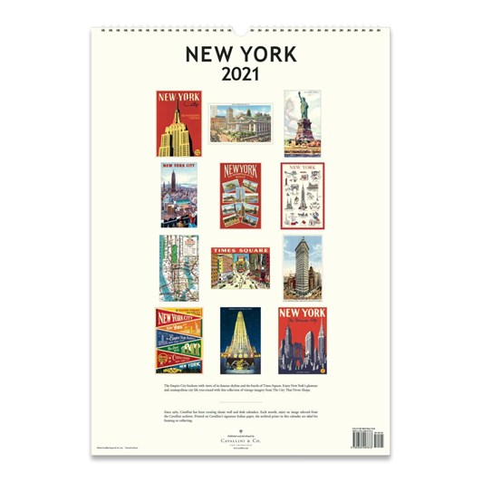 Cavallini New York 2021 Wall Calendar