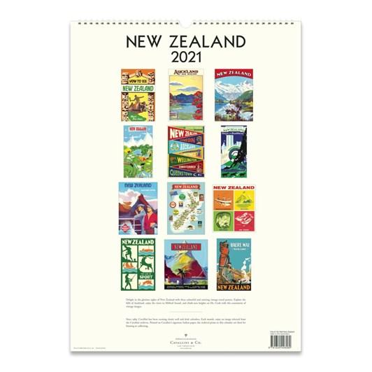 Cavallini New Zealand 2021 Wall Calendar