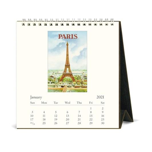 Cavallini Paris 2021 Desk Calendar