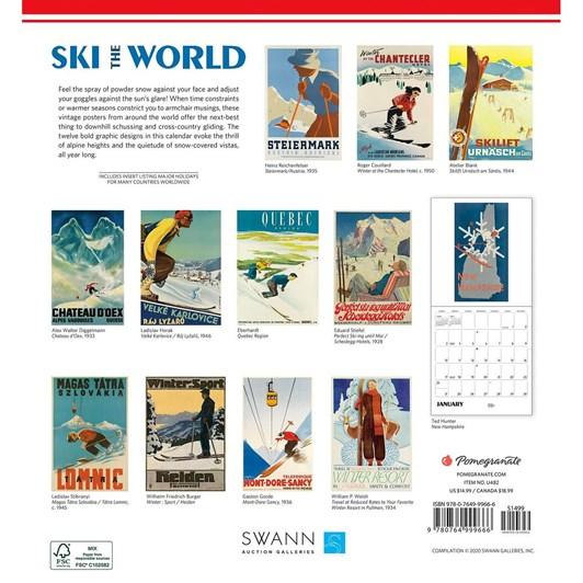 Ski The World Calendar 2021