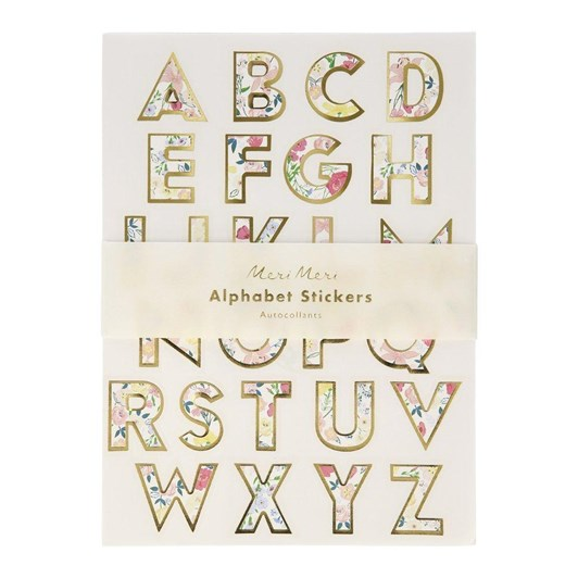 Meri Meri English Garden Alphabet Sticker Sheets