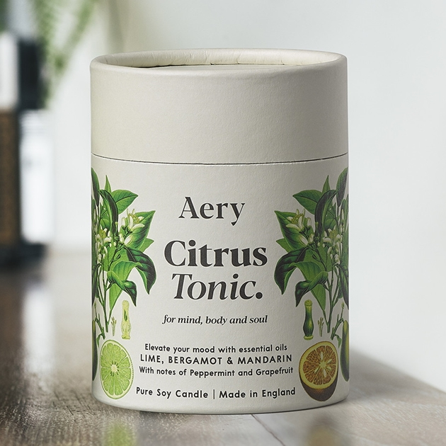 Aery Living Botanical Soy Candle 200G - Citrus Tonic - na