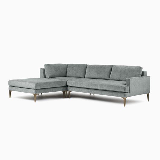 West Elm Andes Sectional Right Sofa Corner Ottoman