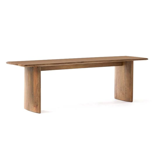 West Elm Anton Dining Bench 58 Inch Burnt Wax
