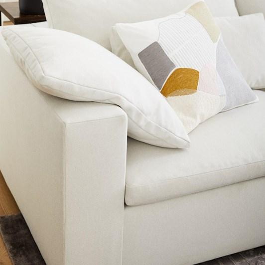 West Elm Harmony Modular 2.5 Seater Eco Weave Sofa Oyster