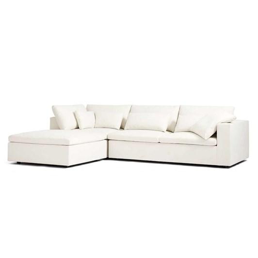 West Elm Harmony Modular Set 01: Left Arm Eco Weave Corner Sofa + Ottoman
