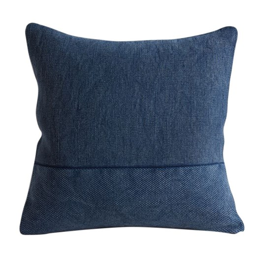 West Elm Cotton Canvas Cushion Cover 24X24 Inch Midnight