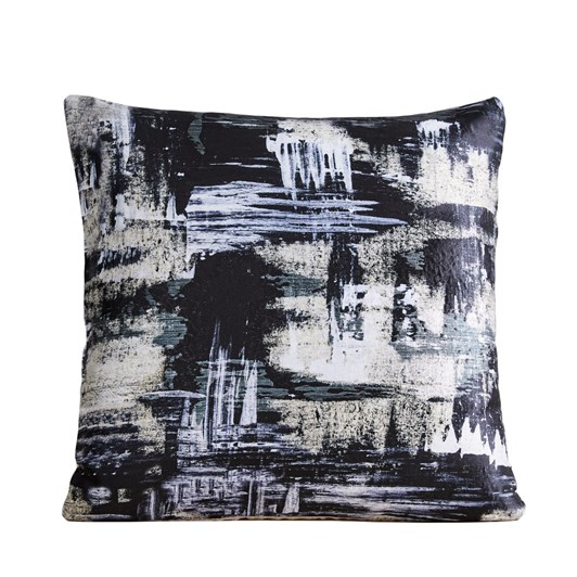 West Elm Painterly Brocade Cushion Cover 20X20 Inch Black