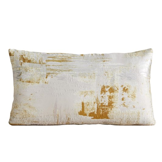 West Elm Painterly Brocade Cushion Cover 12X21 Inch Dark Horseradish