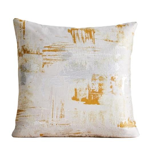 West Elm Painterly Brocade Cushion Cover 24X24 Inch Dark Horseradish