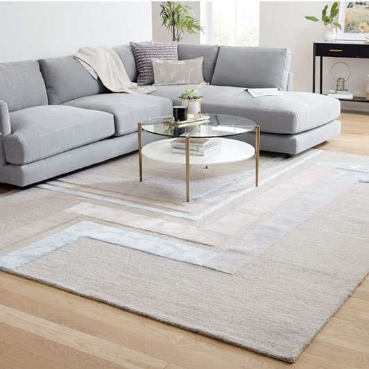West Elm Corridor Rug 5X8 Feet Frost Grey