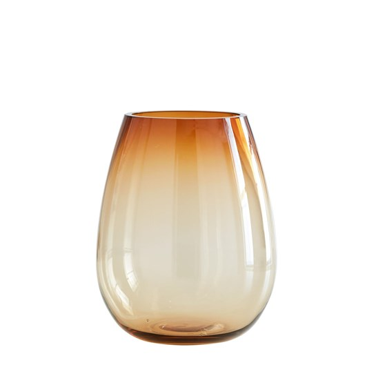 West Elm Pure Foundations Glass Vase Large Amber 12 Inch