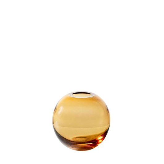 West Elm Pure Conservatory Glass Bud Vase Amber 3.5 Inch