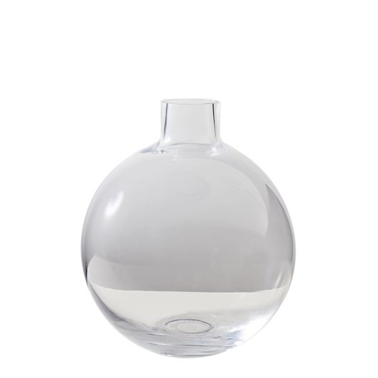 West Elm Pure Conservatory Glass Vase Small Clear 9 Inch