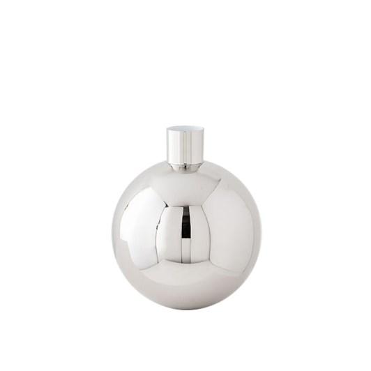 West Elm Pure Foundations Metal Vase Short Round Polished Nickel 6 Inch