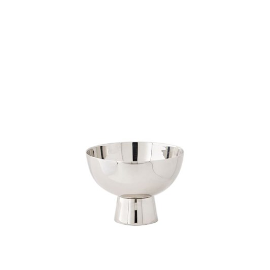 West Elm Pure Foundations Metal Vase Small Footed Polished Nickel 2 Inch