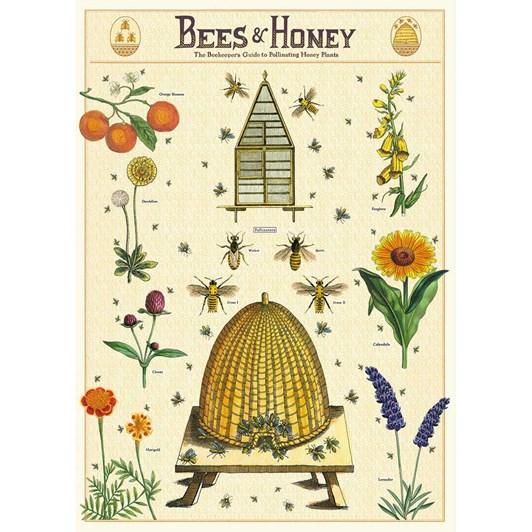 Cavallini Bees and Honey 2 Wrap