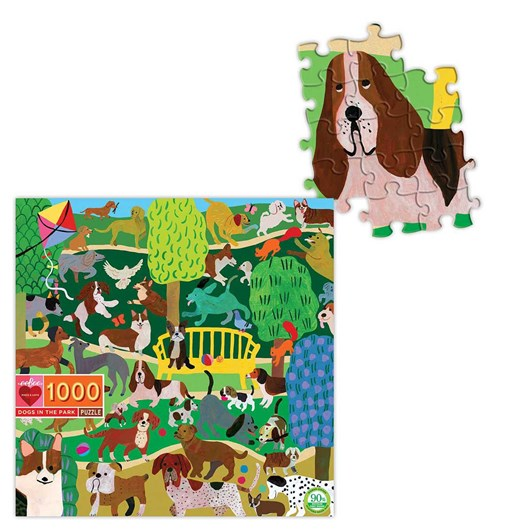 Eeboo Dogs in the Park 1000 Pice Puzzle