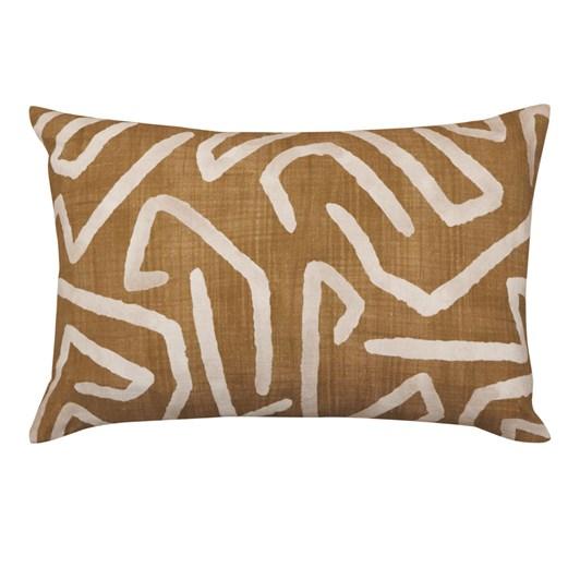 Madras Link Harlequin Amber Linen Cushion 40x60cm
