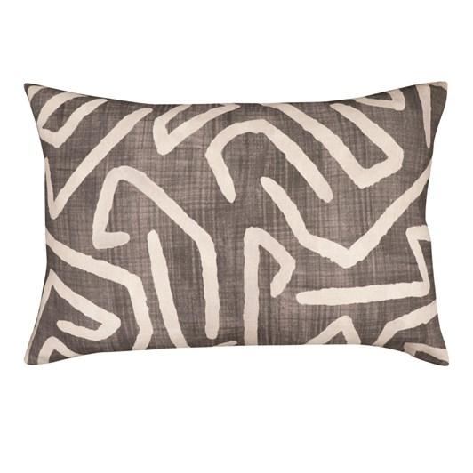 Madras Link Harlequin Charcoal Linen Cushion 40x60cm
