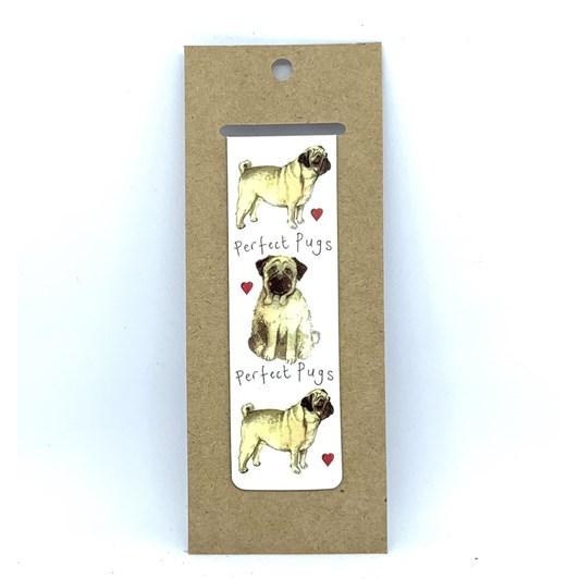 Alex Clark Perfect Pugs Bookmark
