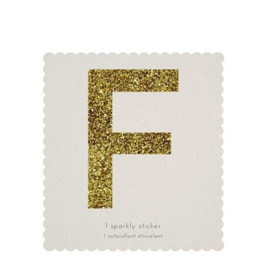 Meri Meri Chunky Gold Glitter F Sticker
