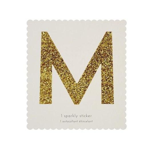 Meri Meri Chunky Gold Glitter M Sticker
