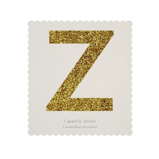 Meri Meri Chunky Gold Glitter Z Sticker