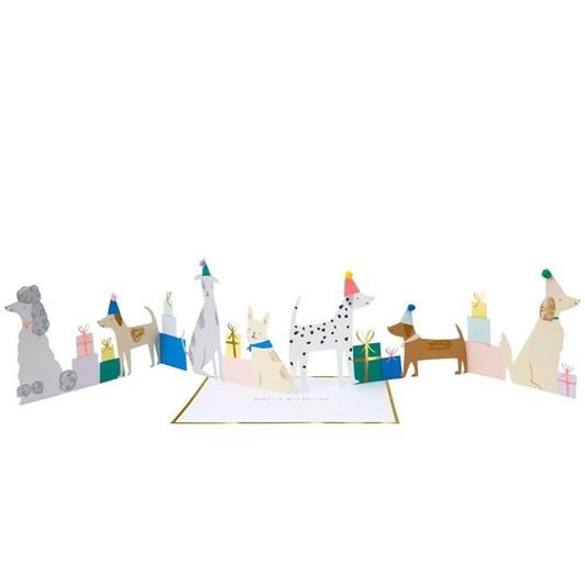 Meri Meri Dog Party Concertina Card