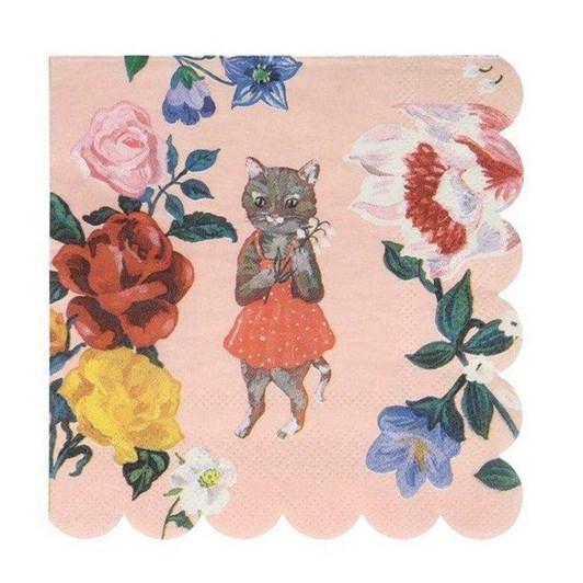 Meri Meri Nathalie Lete Flora Cat Small Napkins