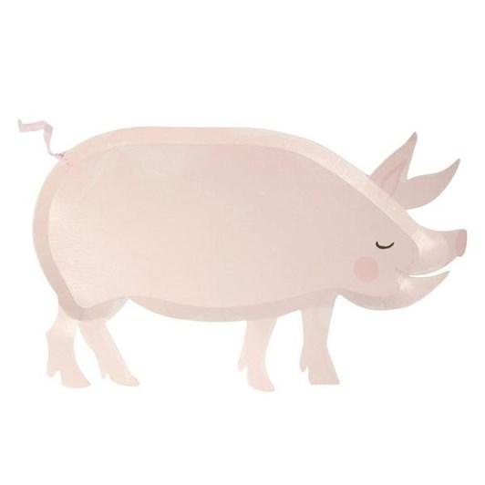Meri Meri On The Farm Pig Plates