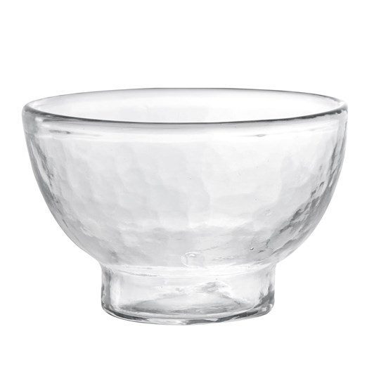Pottery Barn Hammered Glass Nut Bowl