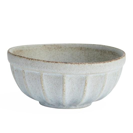 Pottery Barn Mendocino Individual Bowl Mineral Blue