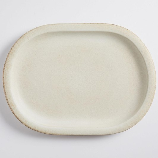 Pottery Barn Mendocino Serve Platter Ivory