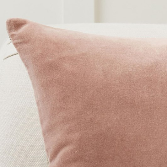 Pottery Barn Velvet W/ Linen Cushion Cover 20 Inches Pink Sand