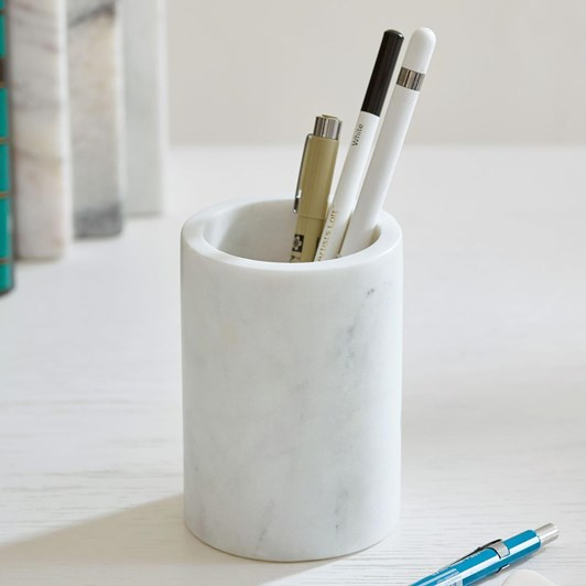 Pottery Barn Marble Home Office Pencil Cup