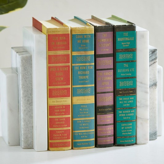 Pottery Barn Marble Step Book Ends