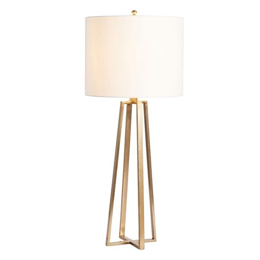 Pottery Barn Carter Console Table Lamp Antique Brass
