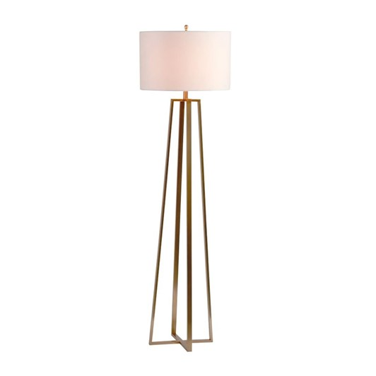 Pottery Barn Carter Floor Lamp Antique Brass
